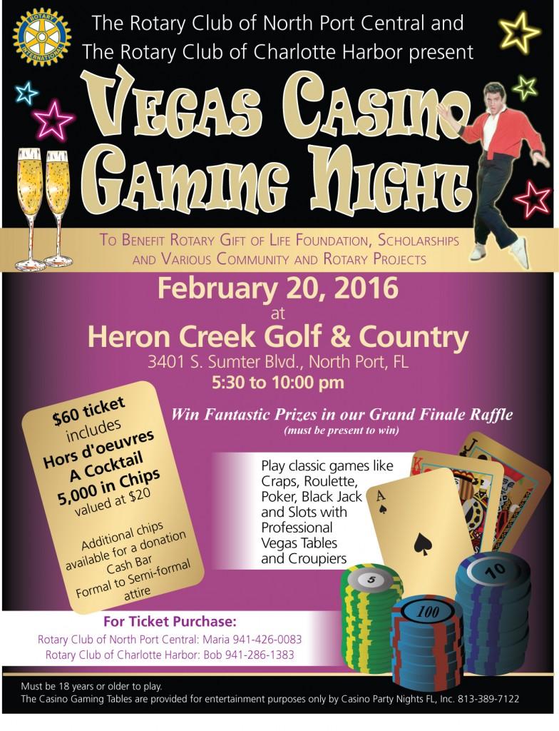 Vegas Casino Night flyer