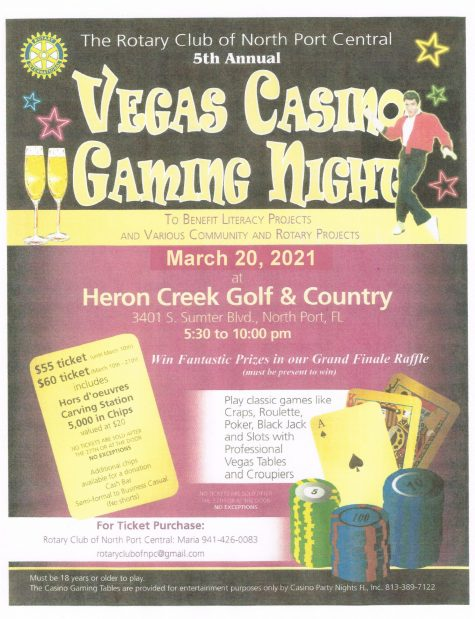 2021 Vegas Casino Gaming Night Flyer